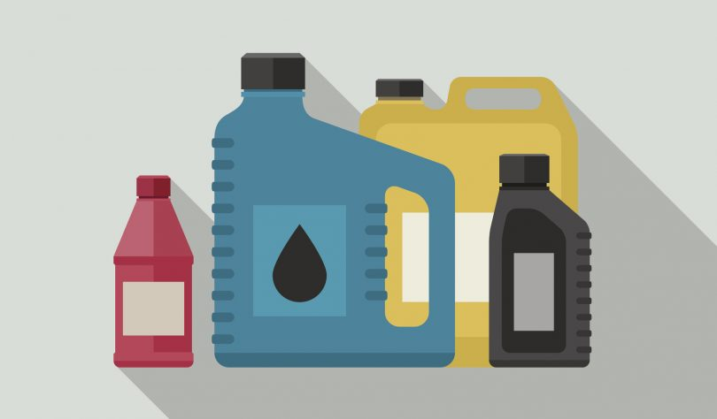 troca de óleo de caminhão