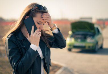 acidente com carro da empresa